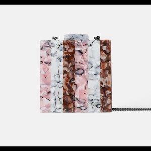 Zara Marbled Effect Clutch